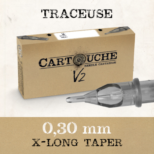 iTC Tattoo et Piercing - Cartouches V2 Traceuse Bugpin Ø 0.30mm 20 pcs