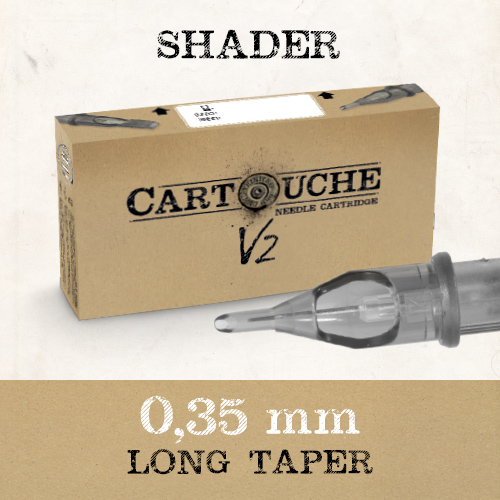 iTC Tattoo et Piercing - Cartouche V2 Shader RS Ø 0.35mm Medium taper 20 pcs