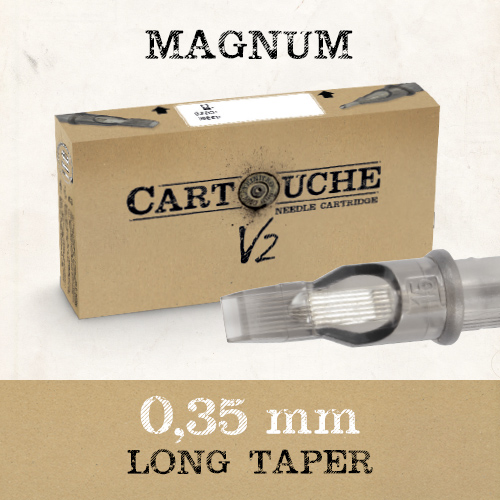 iTC Tattoo et Piercing - Cartouche V2 Magnum  M1 Ø 0.35mm Medium taper 20 pcs
