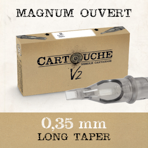 iTC Tattoo et Piercing - Cartouches V2 Magnum ouvert M1 Ø 0.35mm Medium taper 20 pcs