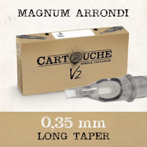 iTC Tattoo et Piercing - Cartouches V2 Magnum arrondi RM Ø 0.35mm Medium taper 20pcs