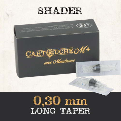 Cartouches M+  Shader RS Ø 0.30mm Medium taper