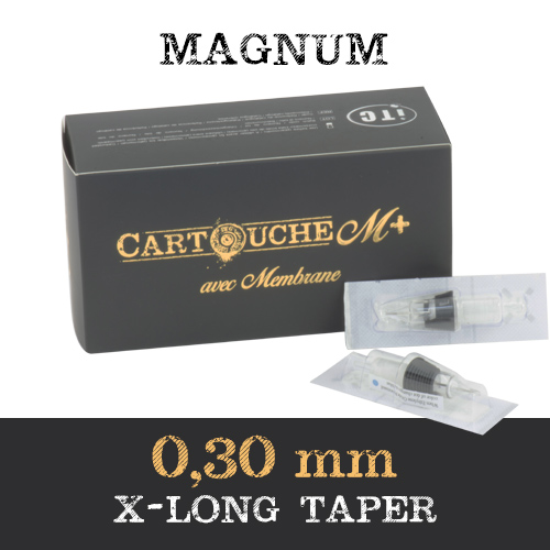 iTC Tattoo et Piercing - Cartouches M+  Magnum M1 Ø 0.30mm Xlong taper