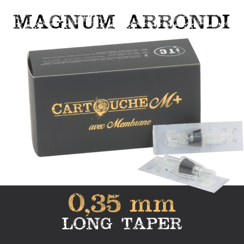 iTC Tattoo et Piercing - Cartouches M+  Magnum arrondi RM Ø 0.35mm Medium taper