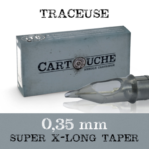 iTC Tattoo et Piercing - Cartouches Sterile Traceuse Ø 0.35mm Super Xlong taper 20 pcs