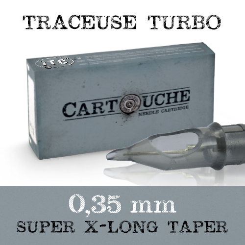 iTC Tattoo et Piercing - Cartouches stériles Round Liner Turbo  0.35Super XL Taper 20pcs