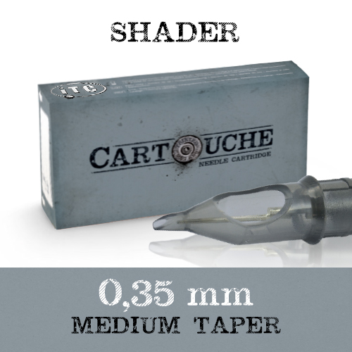 iTC Tattoo et Piercing - Cartouche Sterile Round Shader Ø 0.35mm Medium taper 20 pcs