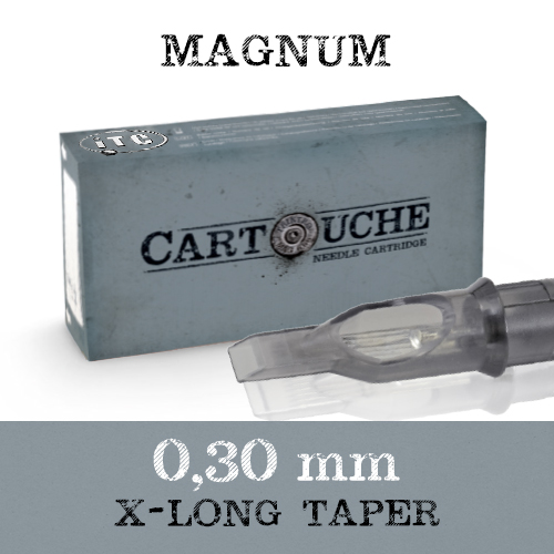 iTC Tattoo et Piercing - Cartouche Sterile Magnum Ø 0.30mm X-Long taper 20 pcs