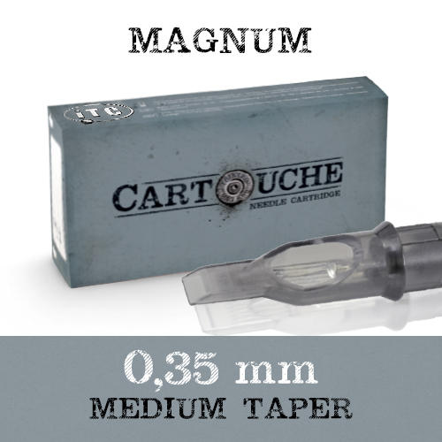 iTC Tattoo et Piercing - Cartouche Sterile Magnum Ø 0.35mm Medium taper 20 pcs