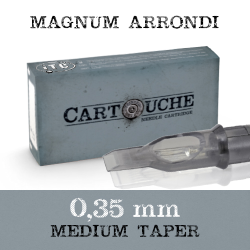 iTC Tattoo et Piercing - Cartouche Sterile Magnum arrondi Ø 0.35mm Medium taper 20pcs