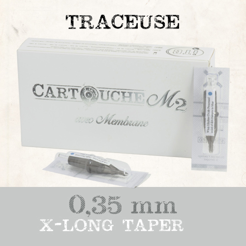iTC Tattoo et Piercing - Cartouches M2 Traceuse RL Ø 0.35mm long taper