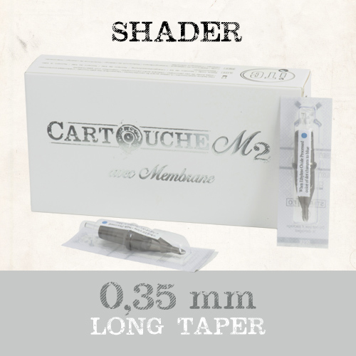 iTC Tattoo et Piercing - Cartouches M2 Shader RS Ø 0.35mm Medium taper