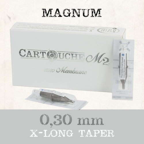iTC Tattoo et Piercing - Cartouches M2 Magnum M1 Ø 0.30mm Xlong taper