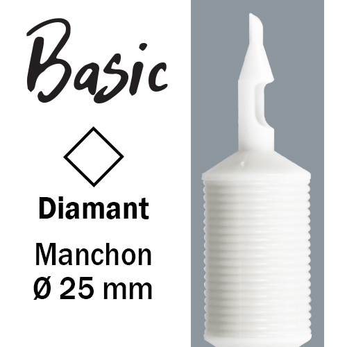 iTC Tattoo et Piercing - Tube stérile manchon 25mm, buse diamant ,25pcs.