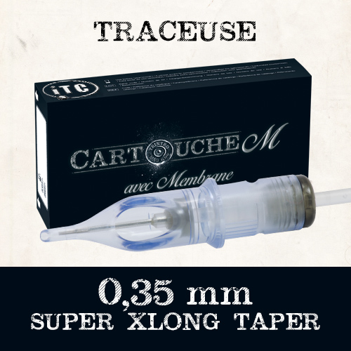 iTC Tattoo et Piercing - Cartouches M Traceuse RL Ø 0.35mm Super Xlong taper