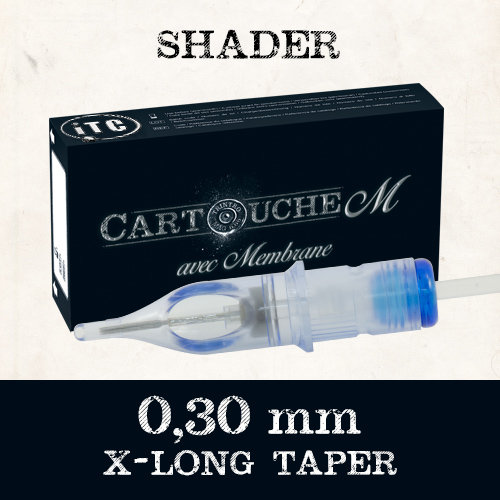 iTC Tattoo et Piercing - Cartouches M Shader RS Ø 0.30mm Xlong taper