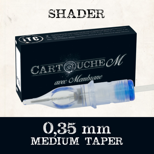 iTC Tattoo et Piercing - Cartouches M Shader RS Ø 0.35mm Medium taper