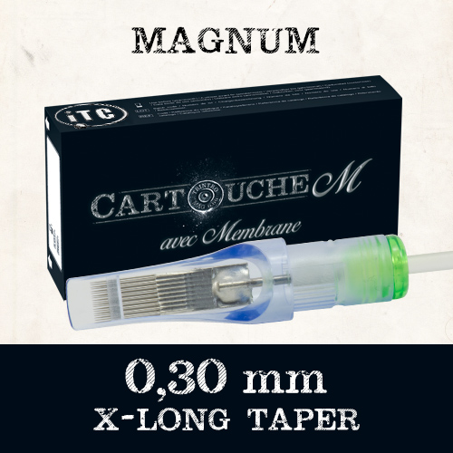 iTC Tattoo et Piercing - Cartouches M Magnum M1 Ø 0.30mm Xlong taper