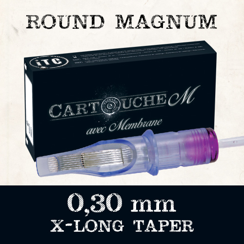 iTC Tattoo et Piercing - Cartouches M Round Magnum RM Ø 0.30mm Xlong taper