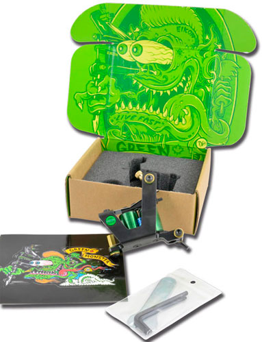iTC Tattoo et Piercing - Machine Tattoo EIKON GREEN MONSTER V2