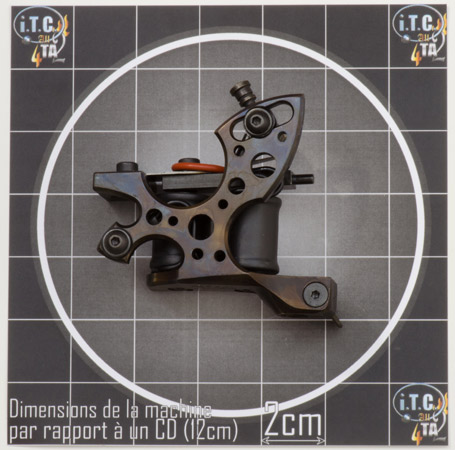 Machine Tattoo LENU'S RUNNER 10 tours Cadre Acier oil treated SHADER - 0G181