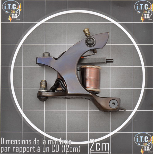 Machine Tattoo LENU'S BAZOOKA 10 tours Cadre Acier oil treated SHADER - 0G187