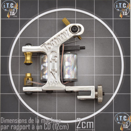 Machine Tattoo TOMMY GUN Aluminium Traceuse - 0G221L
