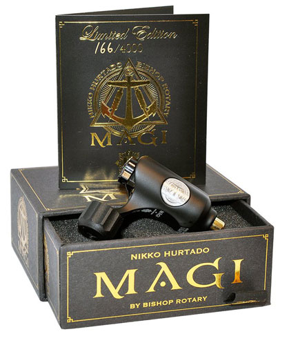 iTC Tattoo et Piercing - Machine Tattoo Rotative BISHOP MAGI série limitée Couleur : Noir