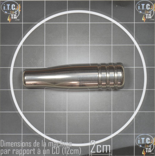 Machine Tattoo LOD cadre Aluminium CHROME - 0G316
