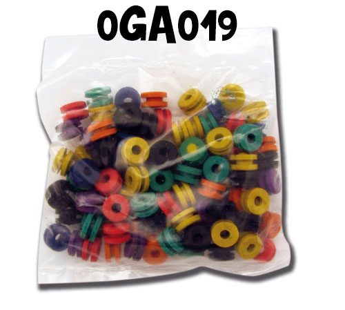 Joint conique/Nipples/Grommets pour armature bar,100pcs - 0GA051