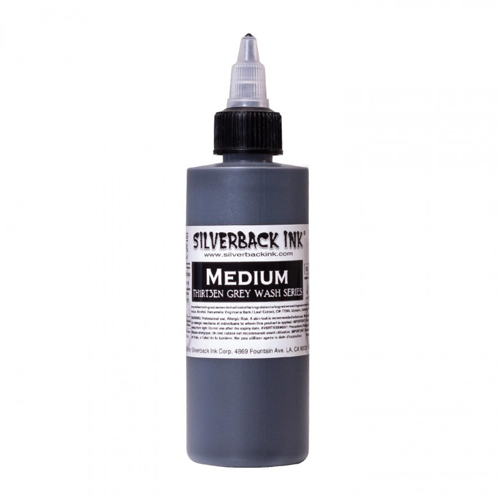 iTC Tattoo et Piercing - Encre SILVERBACKINK, stérile, 4OZ/118ml, TH1RT3EN Medium
