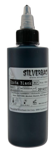 iTC Tattoo et Piercing - Encre SILVERBACKINK  stérile 120ml,coloris : INSTA BLACK
