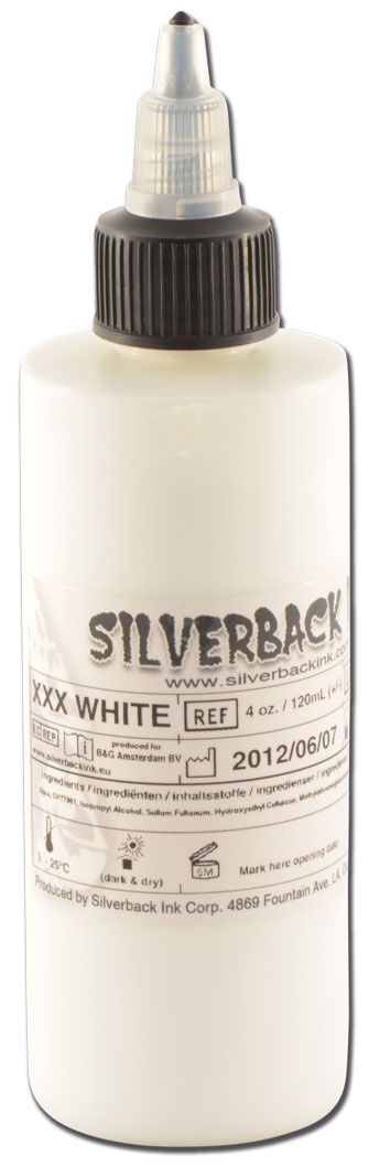 iTC Tattoo et Piercing - Encre SILVERBACKINK, stérile, 4 Oz (120ml),coloris : White