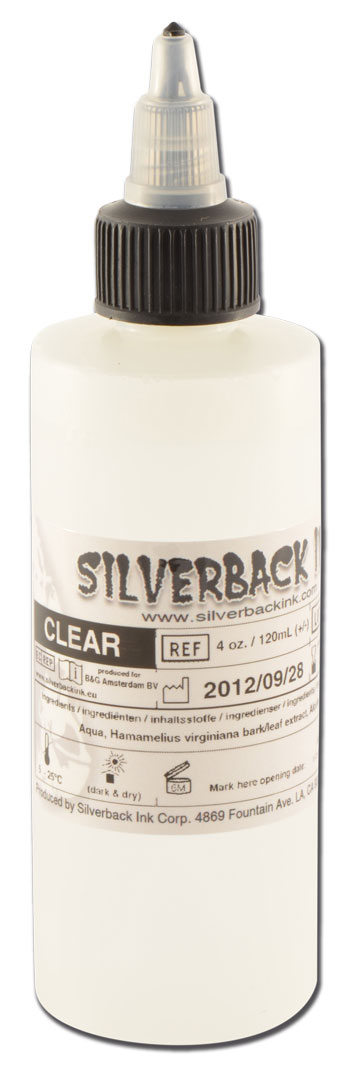 Encre SILVERBACKINK, stérile, 4 Oz (120ml),coloris : Clear