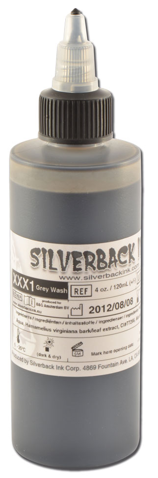 Encre SILVERBACKINK, stérile, 4 Oz (120ml), Greywash LIGHT