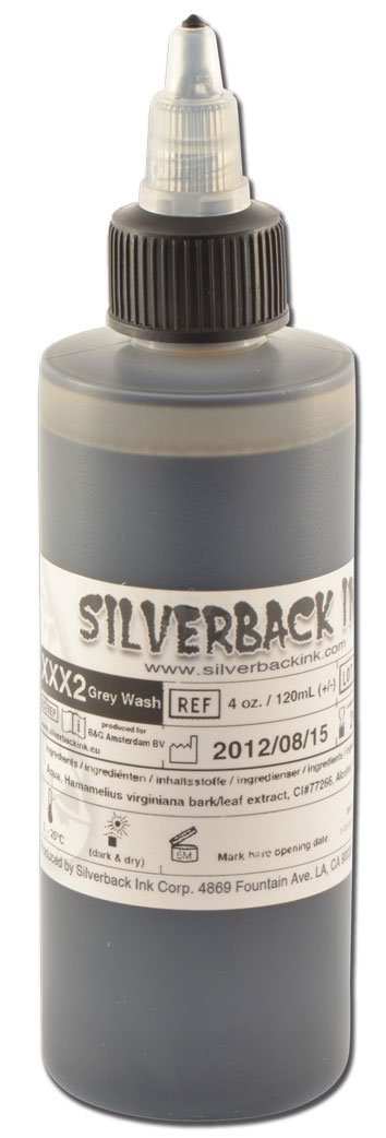 Encre SILVERBACKINK, stérile, 4 Oz (120ml), Greywash LIGHT-MEDIUM