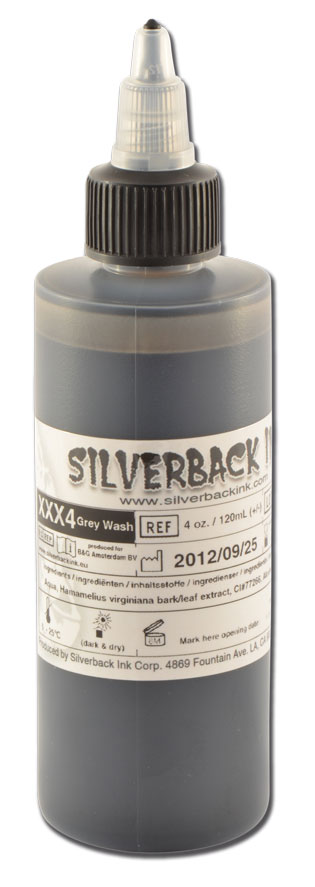 iTC Tattoo et Piercing - Encre SILVERBACKINK, stérile, 4 Oz (120ml), Greywash DARK