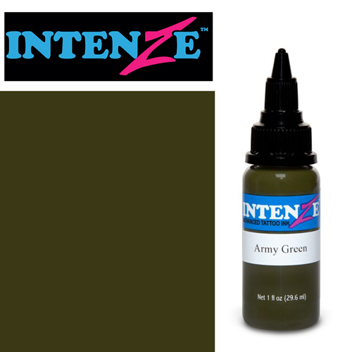iTC Tattoo et Piercing - Encre INTENZE, stérile, 1 Oz (30ml)coloris :Army Green
