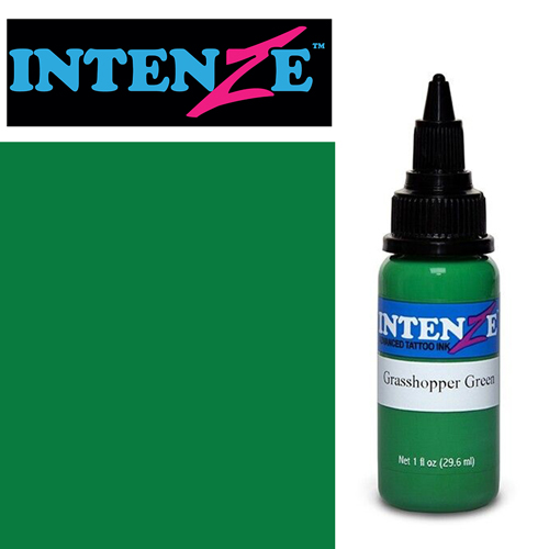iTC Tattoo et Piercing - Encre INTENZE, stérile, 1 Oz (30ml),coloris :Grasshopper Green