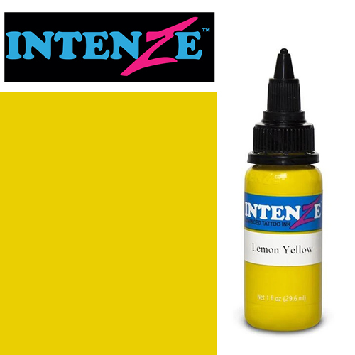 iTC Tattoo et Piercing - Encre INTENZE, stérile, 1 Oz (30ml),coloris :Lemon Yellow