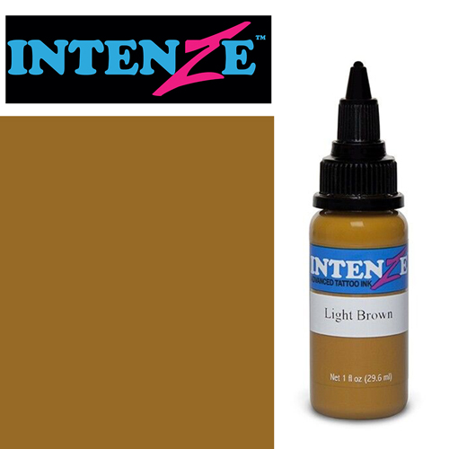 iTC Tattoo et Piercing - Encre INTENZE, stérile, 1 Oz (30ml),coloris :Light Brown