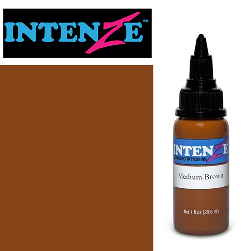 iTC Tattoo et Piercing - Encre INTENZE, stérile, 1 Oz (30ml)coloris :Medium Brown