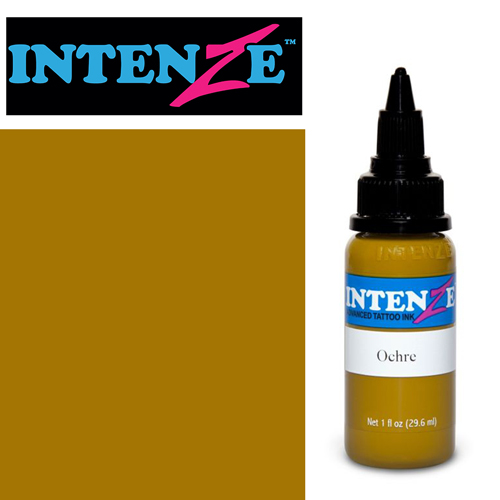 iTC Tattoo et Piercing - Encre INTENZE, stérile, 1 Oz (30ml)coloris :Ochre