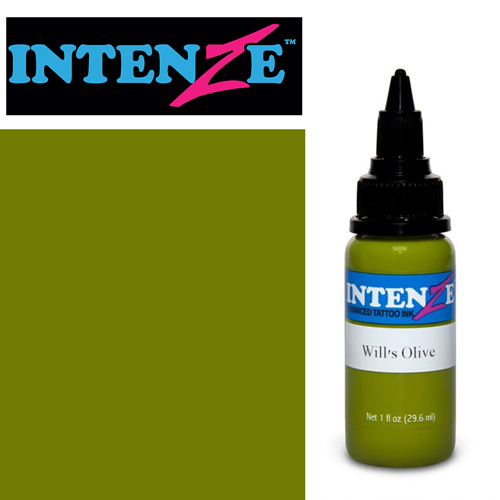 iTC Tattoo et Piercing - Encre INTENZE, stérile, 1 Oz (30ml),coloris : Wills Olive