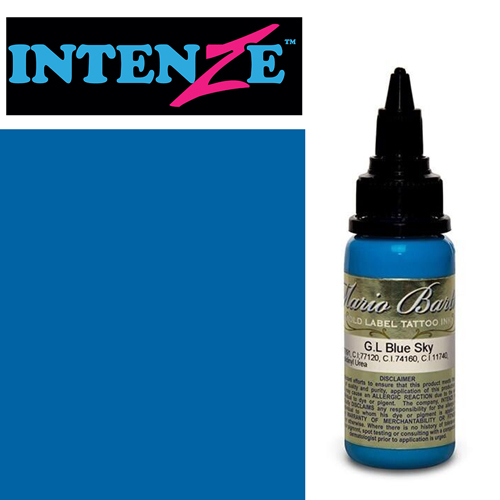 iTC Tattoo et Piercing - Encre INTENZE, stérile, 1 Oz (30ml),coloris : GOLD LABEL Blue Sky