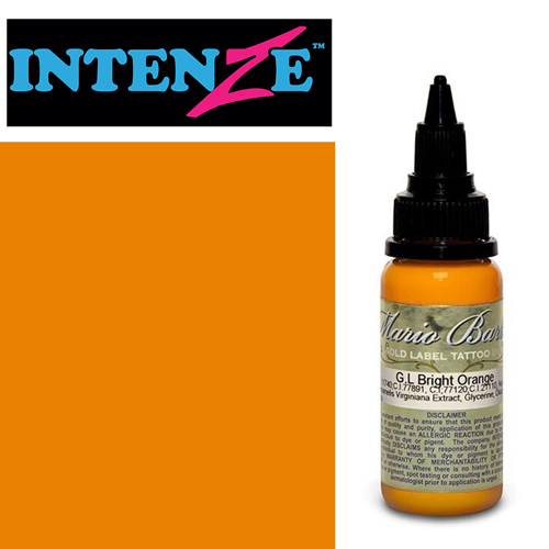 Encre INTENZE, stérile, 1 Oz (30ml),coloris :GOLD LABEL Bright Orange