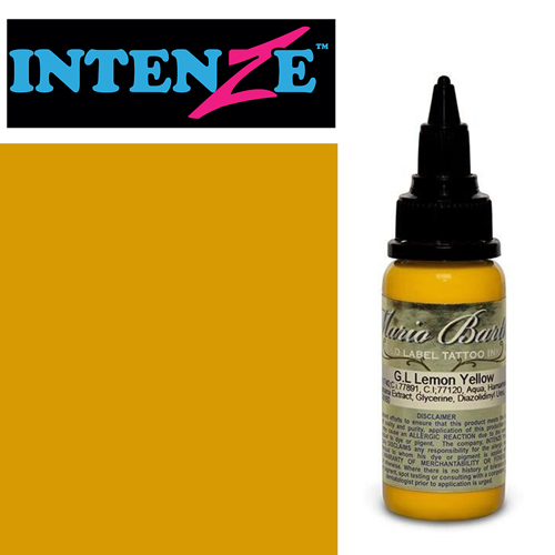 iTC Tattoo et Piercing - Encre INTENZE, stérile, 1 Oz (30ml),coloris : GOLD LABEL Lemon Yellow