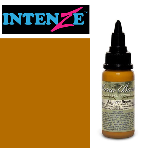 iTC Tattoo et Piercing - Encre INTENZE, stérile, 1 Oz (30ml),coloris : GOLD LABEL Light Brown