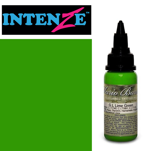 Encre INTENZE, stérile, 1 Oz (30ml),coloris : GOLD LABEL Lime Green