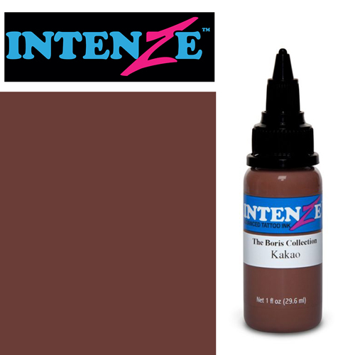 iTC Tattoo et Piercing - Encre INTENZE, stérile, 1 Oz (30ml),coloris : BORIS Kakao